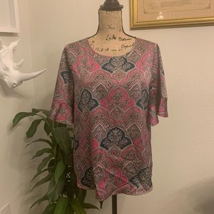 The Limited Women's Floral Pink and Teal Blouse